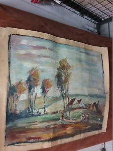 Oil Painting, Antique Roll, Valuable Picture With Signature, Acv Or Aev ,Other