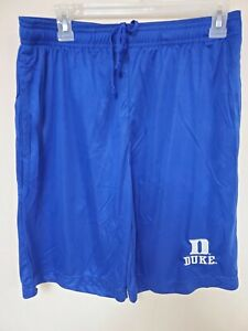 0724-1 Mens DUKE BLUE DEVILS Polyester Jersey SHORTS Embroidered BLUE New