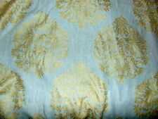New listing Upscale Gold Embroidered Stylized Drapery Fabric - 4 Yrds X 51 Inches
