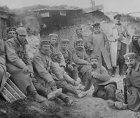 German soldiers in a trench at Berry-au-Bac France World War I 8x10 Photo