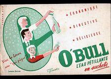 "Buvard BOISSON / EAU PETILLANTE ""O'BULL"""