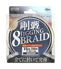 New Gosen Fishing Line Jigging 8Braid #1.2 25lb/200m Multi Color