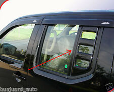 BLACK SIDE VENT WINDOW GUARD FOR NISSAN NAVARA D40 FRONTIER PICKUP 2005-2012 15