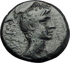 AUGUSTUS 27BC Amphipolis Macedonia Artemis Rides Bull Ancient Roman Coin i59284
