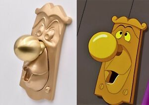 Alice in Wonderland GOLD door knob, working prop COMPLETE SET key door