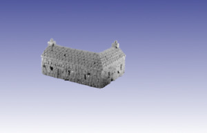 Wargames Scenery Terrain 6mm Building -  Stone Farm