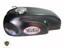 NORTON MANX TRITON WIDELINE MATTE BLACK PAINTED STEEL PETROL FUEL TANK WITH CAP