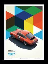 PORSCHE 911R 1967 Nürburgring Marathon de la Route Fine Art Print Poster Ltd Ed
