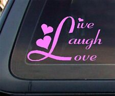 Live Laugh Love Car Decal / Sticker (451) - Light PINK