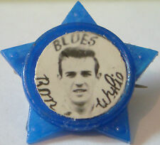 BIRMINGHAM CITY Player RON WYLIE 1965-70 STAR Badge Brooch pin 33mm x 31mm