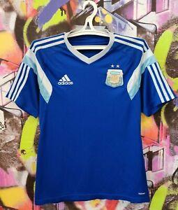 Argentina Soccer National Team AFA Football Shirt Jersey Adidas 2014 Mens S/M