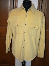 VTG Men's HEAVY Chamois Flannel Shirt LARGE  BF 16-16.5  FIVE BROTHERS EUC USA