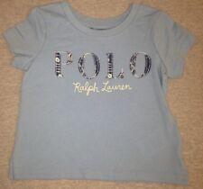 Polo Ralph Lauren Girls Jersey Polo T-Shirt Blue Size 2T