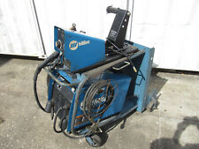 Miller Invision 456p Welder With S 75s Wire Feeder Cart Leads Good Working
