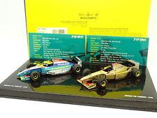 Minichamps 1/43 - F1 Coffret Jordan Peugeot 195 1995 et Jordan Peugeot 196 1996