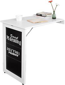 Fold Away Desk White Table Wall Workstation Shelves Floating Folding Compact UK