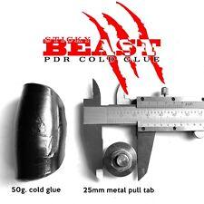 GLEXO STICKY BEAST PDR COLD GLUE 50gram + METAL PULL TAB 25mm