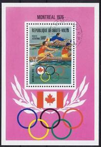 Sport Rowing Olympiad Montreal 1976 Burkina Faso Block 41, 1976
