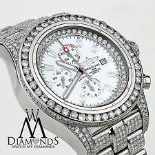Diamond Breitling Super Avenger Watch White Index Dial Model A13370