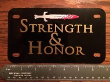 Motorcycle Bike Tag The Gladiator Strength and Honor Bicycle License Plate