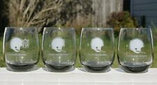 Set Of 4 - 1970's Cleveland Browns Shell Gas NFL Drinking Glass 16oz Tall