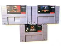 Mortal Kombat 1 2 3 Lot of Super Nintendo Games Authentic Tested Working SNES