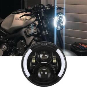 "7"" Motorcycle LED Projector Headlight Halo For Yamaha XSR900 V Star 1100 650"
