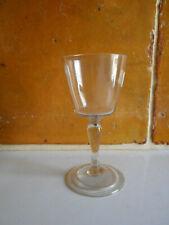 Rare verre a pied a jambe soufflé ancien.XVIII°.(3).