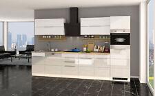 Küchenzeile hochglanz weiss Einbauküche mit Elektrogeräten Geschirrspüler 330 cm