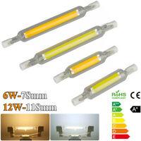 R7s LED Glasröhre Glühbirne Dimmbar COB Birne 78mm 118mm Ersetzen Halogenlampe+7
