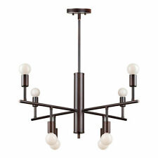 Forte Lighting 7091-08-32 Signature Chandelier Antique Bronze NEW