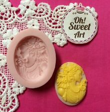 Colonial Lady Cameo  Silicone Mold Food Cake Decoration soap Cupcake (FDA)