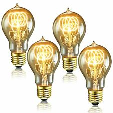 Luxrite Vintage A19 Incandescent Light Bulb, 40W, Dimmable, Crystal Clear...