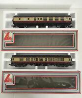 Lima Models 305311 & 305331 Corridor Railway M34628 & M34376 Cream + Maroon