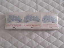 VINTAGE ADVERTISING MATCHBOOKS HUGH RADER LUMBER COMPANY DETROIT MICHIGAN UNUSED