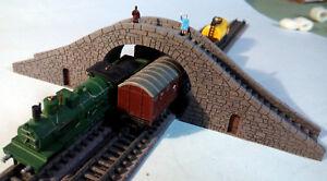 N GAUGE MODEL RAILWAY STAIRS BRIDGE DOUBLE TRACK OVERPASS LASER CUT