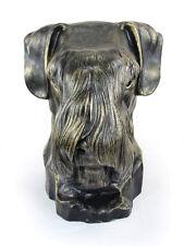 Schnauzer (ungeschnitten), großer Kopf Resin, Art Dog, CH