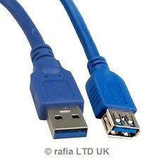 3m USB 3.0 A Male to A Female Gigabit Lead Extension Extender Cable Super Fast