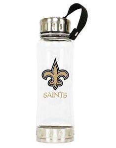 NFL New Orleans Saints Clip-on Clear Plastic Water Bottle With Spout