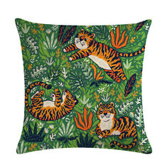 Hot Tiger Pillow Cover Home Decoration 1PC Couch Outdoor Chairs Cushion Cover HC