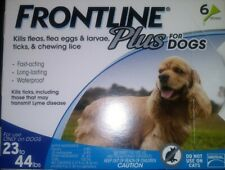 New Genuine Merial Frontline Plus For Medium Dogs 23 - 44 lbs 6 Vials 6 Months