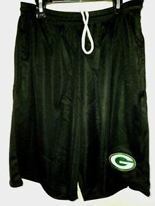 0724 YOUTH NFL GREEN BAY PACKERS Polyester Jersey SHORTS Embroidered Black New