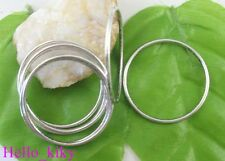 80 pcs Tibetan silver smooth circle links 39mm A8183