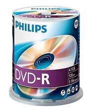 PHILIPS DVD-R 120 MINUTES VIDÉO 4,7 GO DONNÉES 16X VITESSE VIERGE DISQUE BROCHE