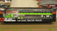 DCP #33406 OWNER OPERATOR PETE 379 SEMI &COVERED WAGON FLAT BED TRAILER 1:64/ FC