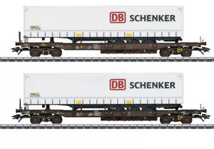 """MÄRKLIN 47110 Taschenwagen-Set """"DB Schenker"""" In OVP"""