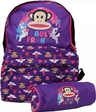 PAUL FRANK UNICORN PURPLE BACKPACK / SCHOOL BAG+MATCHING PENCIL CASE.BRAND NEW🦄