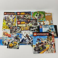 Lego Manuals Instruction Booklets Mixed Lot of 16 Bionicle Star Wars etc