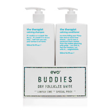 Evo The Therapist Calming Shampoo and Conditioner 500ml Duo Buddies