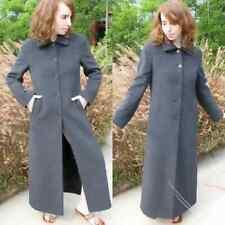 Luxury Full Length Grey Angora Coat Made in Japan So Soft Feels like Vicuna S/M